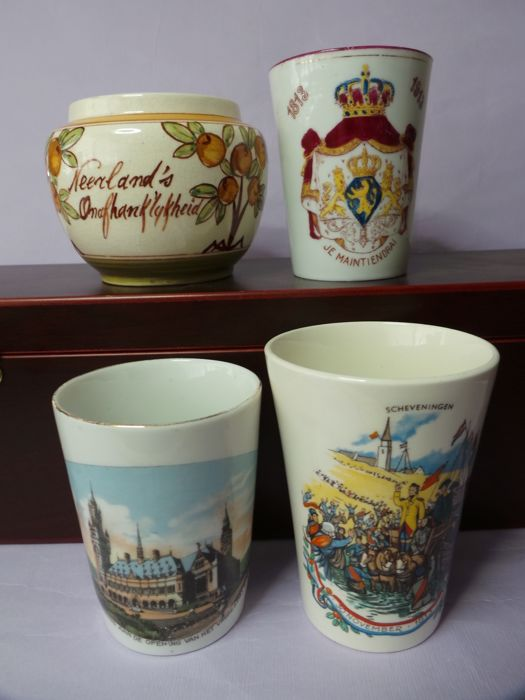 Lot of Holland's Independence plus cup on the occasion of the opening of the Peace Palace