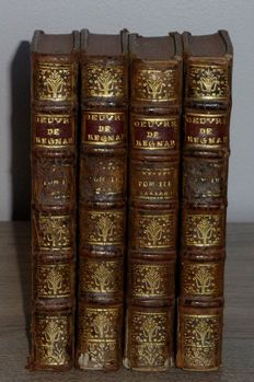 Jean-François Regnard - Les oeuvres - Complete in 4 volumes - 1742