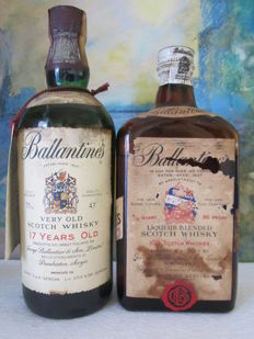 2 bottles - Ballantines 17 years very old whisky 75 cl 1980s & Ballantine's Lqueur Blended Scotch Whisky 75 cl - 1960s rare