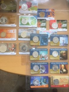 The Netherlands - 20x coin cards and year pack WA 2014