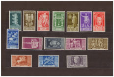 Kingdom of Italy 1937 - Bimillenium of the birth of Augusto - Sassone No.   416/425 and Airmail A106/A110