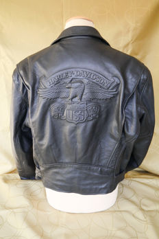 Genuine Harley Davidson - Biker Motorcycle Leather Jacket - Size XL.