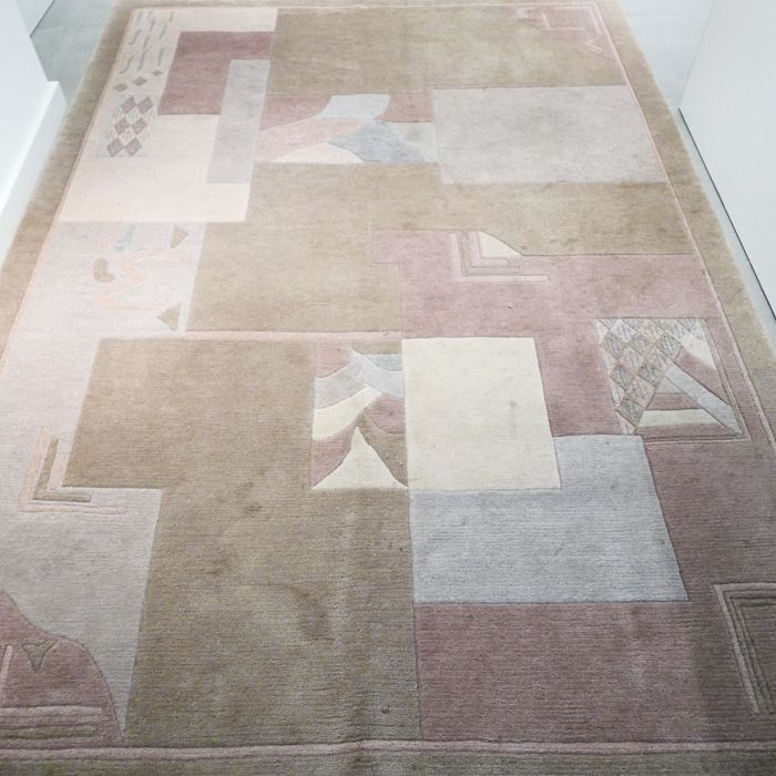 Magnificent nepalse Art Deco rug - 245 x 173 - Super look and quality - timeless design