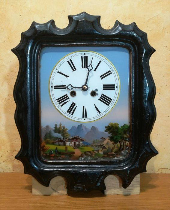 Black Forest wall clock, second half of 19th century