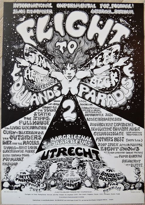 Psychedelic Pink Floyd Poster 1968