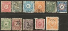 Japan and Korea 1850/1950 - small batch with classic issues on stock cards