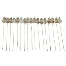 17 Mexican sterling silver Stirrers