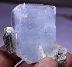 Aquamarine Specimen With Mica - 49 x 38 x 30 mm - 85 gm - 429 ct