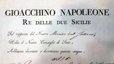 Original decree, signed by Joachim-Napoléon Murat, king of Naples - 1810