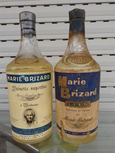 2 bottles Marie Brizard - Bottled 1950s/60s