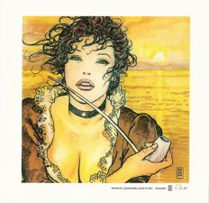 """Manara, Milo - 2x lithograph """"Pipe"""" and """"Indians"""""""
