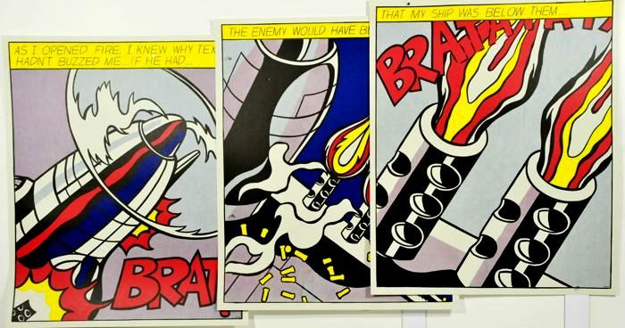 Roy Lichtenstein - As I Opened Fire, triptych. Stedelijk Musseum - Δεκαετία του 1970