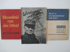 NSB; Lot with three propaganda editions by the NSB in WW II - 1941/1945