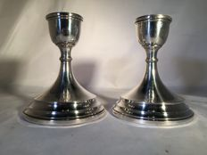 Silver candle stands - Turner & Simpson - Birmingham - 1974