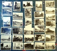 Rotterdam - 1940 - collection of 31 original photographs from immediately after the bombardment, made by a professional on May 14, 1940.