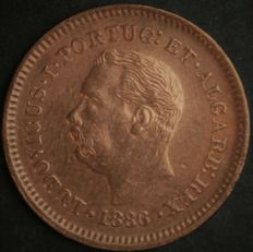 Portugal - Monarchy - India - D. Luís I - 1/8 Tanga 1886 - Copper