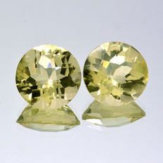 2 Citrines - 6.52 ct - No Reserve Price