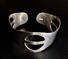 Solid Silver 925 Design Bracelet -  Weight 36 - Long : cm 17 Large : cm 3