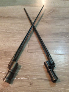 Lot of 2 Mosin Nagant bayonet, used by the Russian army from 1891 to 1945