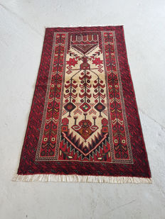 Hand Knotted Prayer design Persian Balouchi Rug 185 x 105cm - Iran 20th century