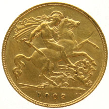England - ½ sovereign 1909, Edward VII - gold