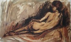 Arduino Colato (1880-1954) woman naked back extended