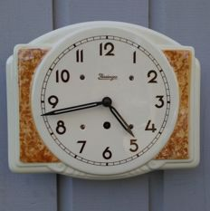 Kieninger antique vintage wall clock - Art Deco kitchen clock - Germany - period 1940