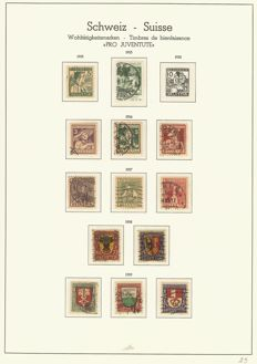 Switzerland - 1902 - 1983 - advanced collection with nice Pro Juventute issues in Leuchtturm springback binder.