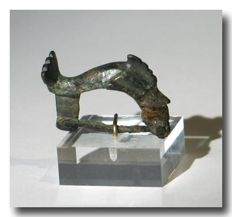 Roman Bronze Fibula, Diving Dolphin, 3.1 cm