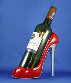 Wine bottle holder in the shape of a high heeled shoe - Germany