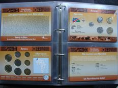 "World - Coin sets ""Coins of the World, continent Africa"" (22 different sets) in album"