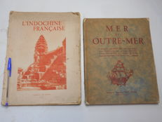 Charles Robequain et Collectif - L'Indochine Française & Mer et Outre-Mer - 2 volumes - 1930/1935