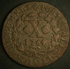 Portugal - Monarchy - D. José I –  X Reis 1764 – Copper