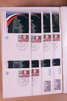 France ca. 1964/1971 – Batch of 1000 FDC's in box