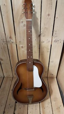 Egmond acoustic jazz combo f hole guitar 1950s,