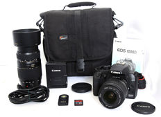 A Canon EOS 1000d with Canon EF-s 18-55mm 1:3.5-5.6 II set