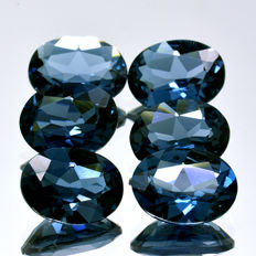 Six London topaz stones - 7.61 ct