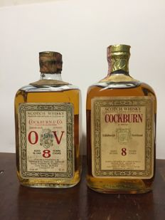 2 bottles - Cockburn 8 years old from the 1960s & 1970s