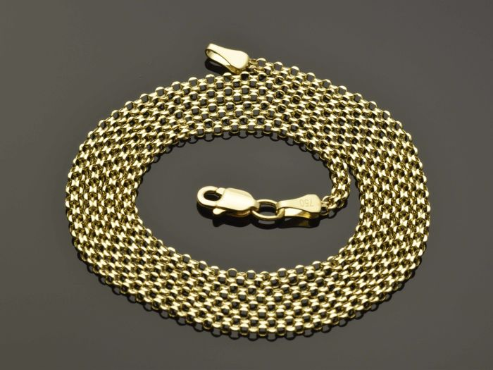 18k Gold Necklace. Chain - 50 cm. Weight 2.36 g