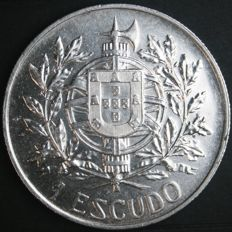 Portugal Republic – 1 Escudo (1914) – 5th of October, 1910 – Silver
