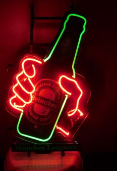 Neon advertising lighting Heineken Longneck beer / 2nd half 20th century
