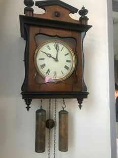 Antique wall clock - Signed on the back - around 1850
