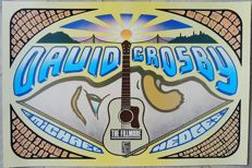 "Beautiful David Crosby Fillmore "" Dance"" Concert Poster 1989"