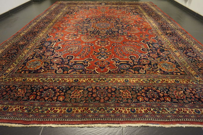 Old Hand Knotted Art Nouveau Persian Palace Carpet
