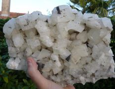 Magnificent plate composed of rhombohedra of calcite - 24 x 17cm - 1910g
