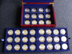 Europe - Euro medals, various (36 different ones) in coffer
