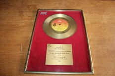 "Chicago / UK BPI Gold 7"" Award / If You Leave Me now"