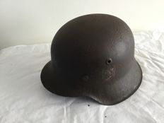Ww2 German helmet M-42. Inner ring. Remains of decal. Wehrmacht