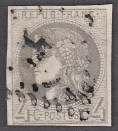 France 1870 - 4c Grey - Yvert no 41B