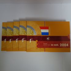 Luxembourg - Christmas sets with Euro coins 2004 (5 pieces)